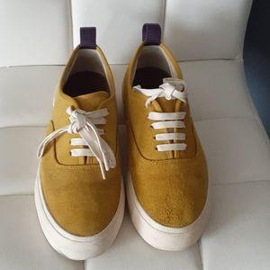 Eytys mother yellow suede platform sneakers sz 7.5